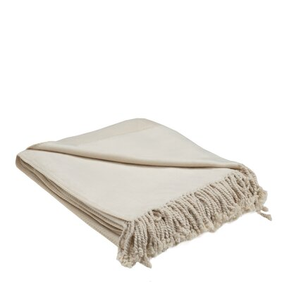 Bamboo Rayon Throw Color: Off White