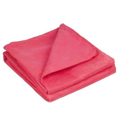 Montana Throw Color: Red Pink