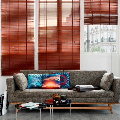 Lodge Venetian Blind Color: Light Brown, Size: 17.72 W x 85.8 L