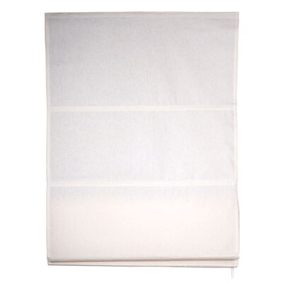 Carlton Roman Shades Color: Off White, Size: 31.5 W x 85.8 L