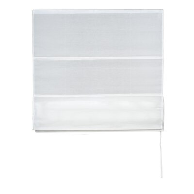 Formentera Roman Shades Color: White, Size: 17.72 W x 86.6 L