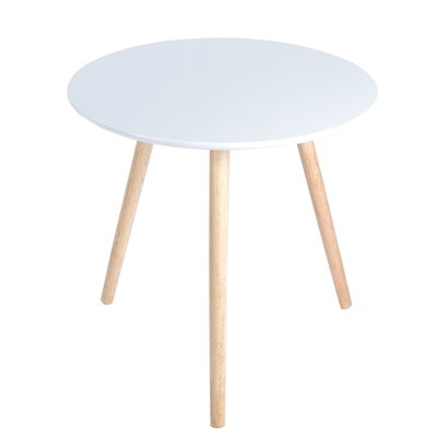 Sweden End Table Finish: White/Natural