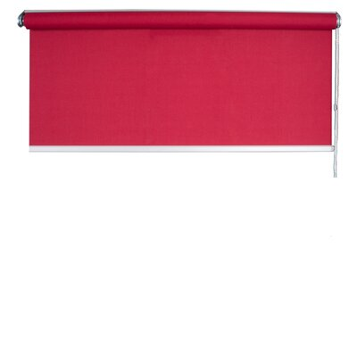 Panama Roller Shades Color: Bright Red, Size: 39.37 W x 85.8 L