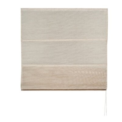 Formentera Roman Shades Color: Light Beige, Size: 17.72 W x 86.6 L
