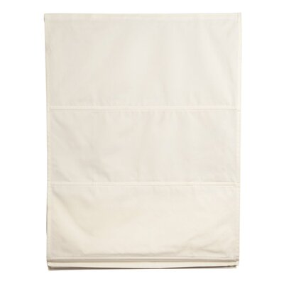 Piazza Roman Shades Size: 59.06 W x 85.8 L, Color: Off White