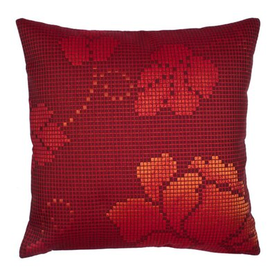 Mosa�Ea Pillow Cover Color: Burgundy