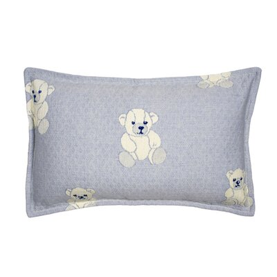 Ourson Pillow Cover Size: 11.02 H x 18.33 W x 0.39 D, Color: Light Blue