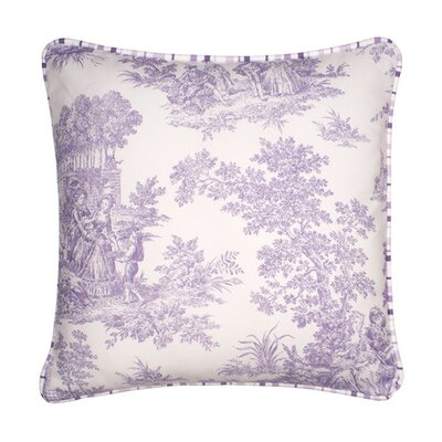 Anjou Pillow Cover Size: 15.6 H x 15.75 W x 0.39 D, Color: Blue