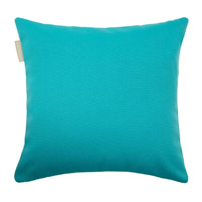 Outdoor Pillow Cover Size: 15.6 H x 15.75 W x 0.39 D, Color: Deep Turquoise