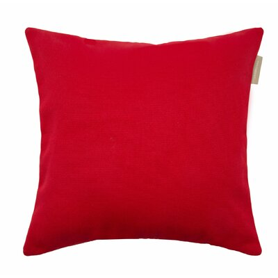 Outdoor Pillow Cover Size: 15.6 H x 15.75 W x 0.39 D, Color: Bright Red