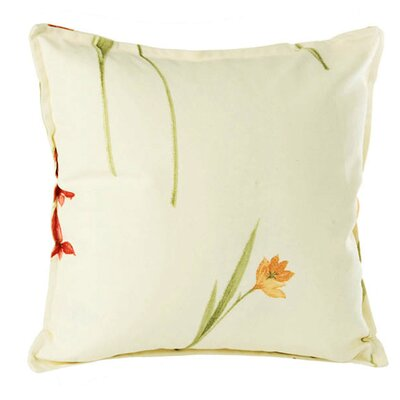 Flora Pillow Cover Size: 15.6 H x 15.75 W x 0.39 D, Color: Burgundy