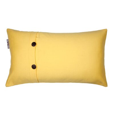 Pampa Pillow Cover Size: 17.72 H x 27.3 W x 0.39 D, Color: Oranged Yellow