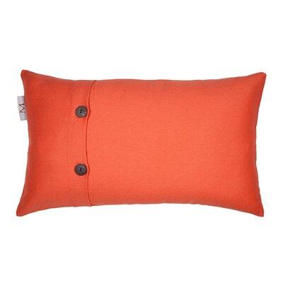 Pampa Pillow Cover Color: Orange, Size: 11.02 H x 18.33 W x 0.39 D