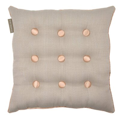 Lina Throw Pillow Color: Natural/Peach