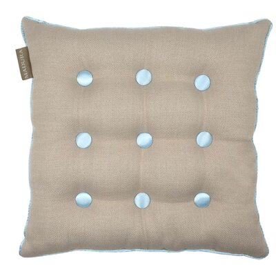 Lina Throw Pillow Color: Natural/Blue