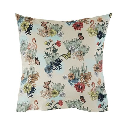 Anniversary Pillow Case Size: 24.41 H x 24.41 W x 0.39 D, Color: Green/Beige/Blue