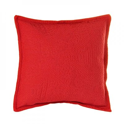 Fanny Pillow Cover Size: 15.75 H x 15.75 W x 0.39 D, Color: Bright Red