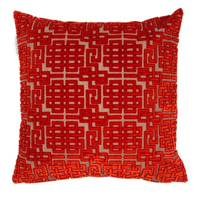 Ming Pillow Cover Color: Burgundy