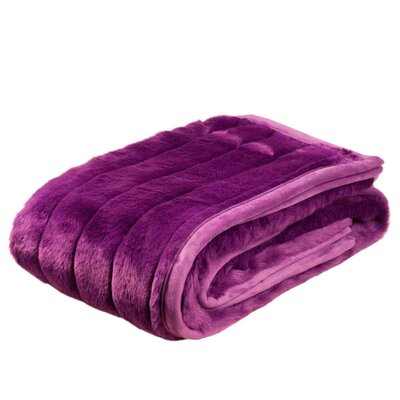 Nebraska Throw Color: Purple