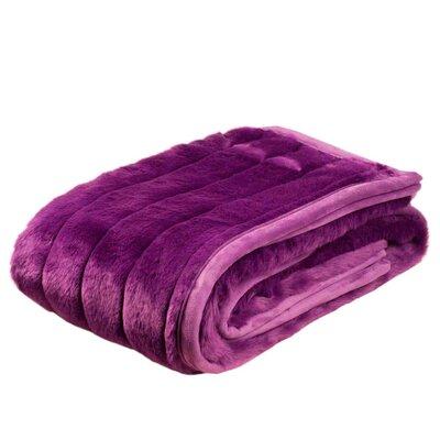 Nebraska Throw Color: Purple