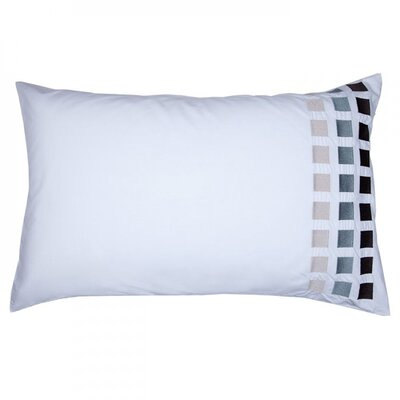 Square Pillow Cover Color: White/Gray