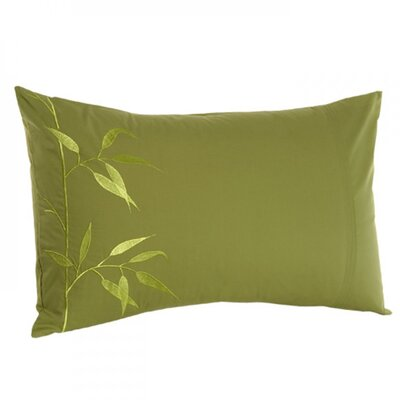 Bamboo Rayon Pillow Cover Color: Green Yellow