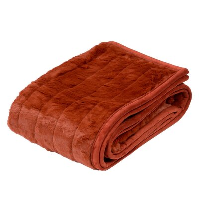 Nebraska Throw Color: Orange Brick