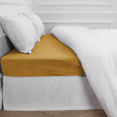 Aurore 300 Thread Count Fitted Sheet Color: Ocher, Size: Queen