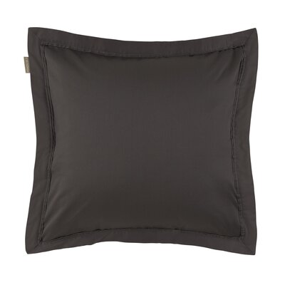 Aurore Pillow Case Color: Anthracite Gray, Size: Standard