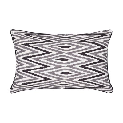 Zebide Cotton Pillow Cover Color: White and Gray, Size: 15.7 x 15.7