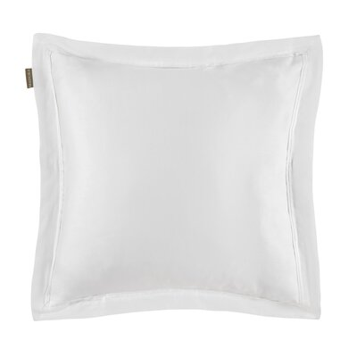 Aurore Pillow Case Color: White, Size: Euro