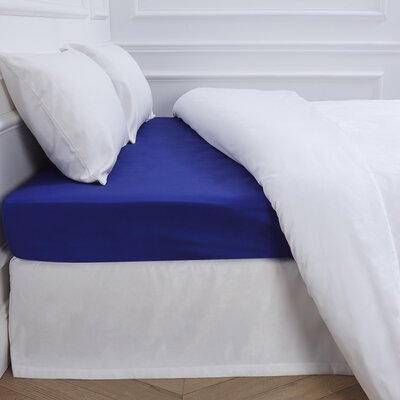 Aurore 300 Thread Count Fitted Sheet Color: Blue, Size: Full