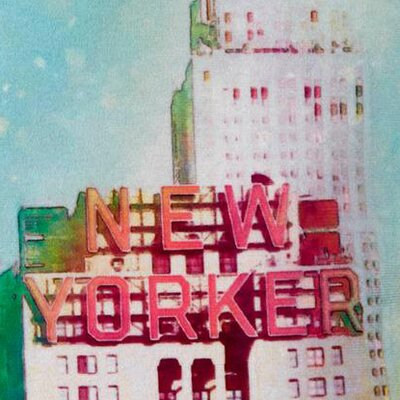 New Yorker Pillow Cover
