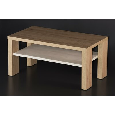 Aurand Wood Coffee Table with Shelf