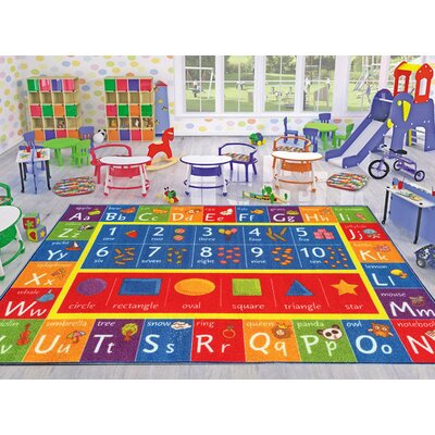 Playtime Machine Woven Multi-Colored Indoor/Outdoor Area Rug Rug Size: 33 x 47