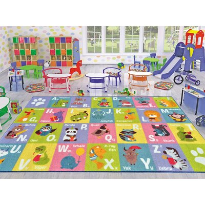 Playtime Machine Woven Multi-Colored Indoor/Outdoor Area Rug Rug Size: 5 x 66