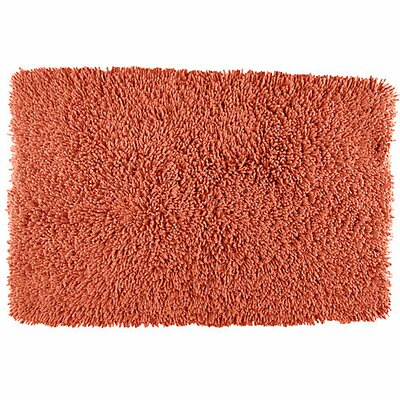 Lauren Taylor Twistly Bath Rug Color: Coral