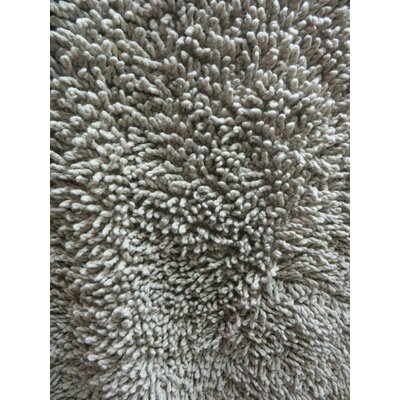 Lauren Taylor Twistly Bath Rug Color: Taupe