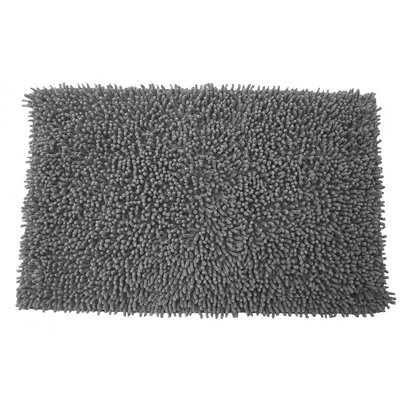 Lauren Taylor Twistly Bath Rug Color: Gray