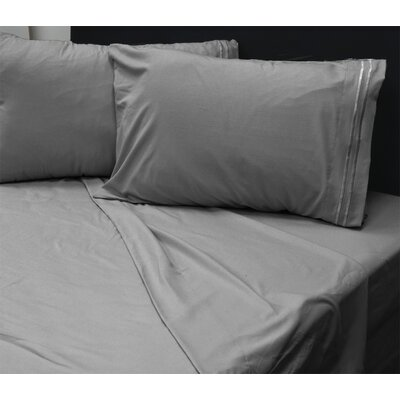 Beirut 4 Piece Sheet Set Color: Grey