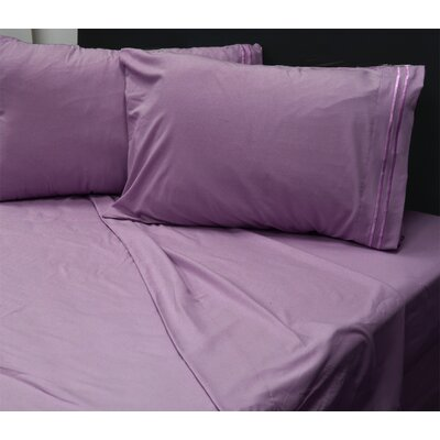 Beirut 4 Piece Sheet Set Color: Mauve