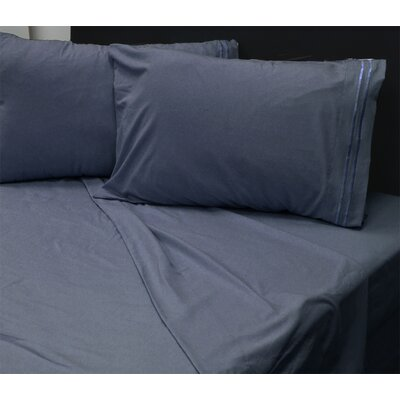 Beirut 4 Piece Sheet Set Color: Navy