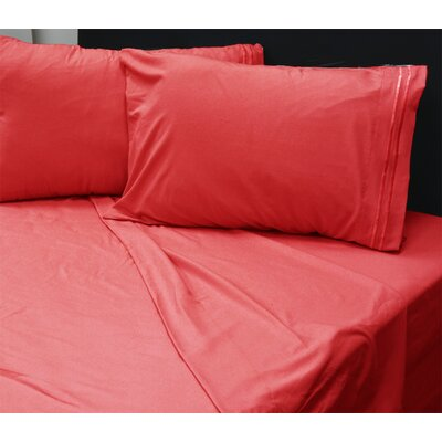 Beirut 4 Piece Sheet Set Color: Red