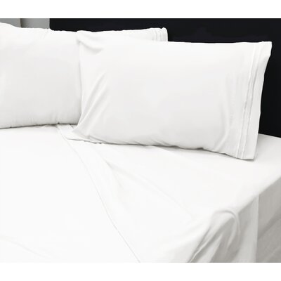 Beirut 4 Piece Sheet Set Color: White