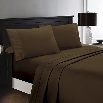 Woodward Egyptian Comfort Sheet Set Color: Chocolate
