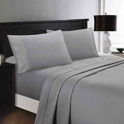 Woodward Rayon from Bamboo Comfort Sheet Set Size: Full/Double, Color: Gray