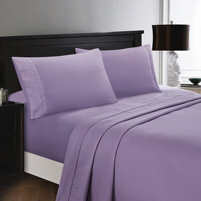 Woodward Rayon from Polyester Comfort Sheet Set Size: Full/Double, Color: Lilac