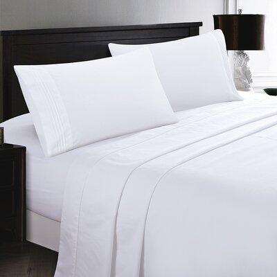 Woodward Rayon from Polyester Comfort Sheet Set Size: Full/Double, Color: White