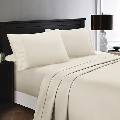 Woodward Rayon from Polyester Comfort Sheet Set Size: Full/Double, Color: Taupe