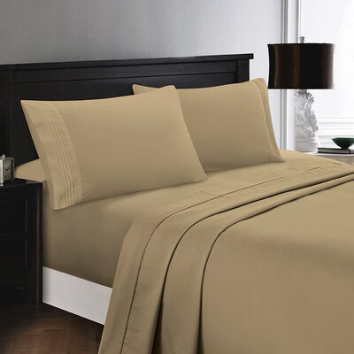 Woodward Rayon from Bamboo Comfort Sheet Set Size: Full/Double, Color: Tan